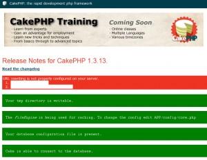 CakePHP Ver1.3のエラー画面